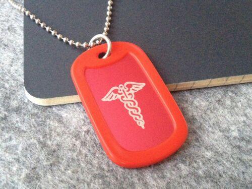 Collar de Alerta Médica Ejército ID de etiqueta de perro diabetes epilepsia alergia SILENCIADOR encubierta