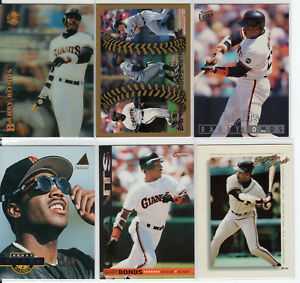FUTURE-HALL-OF-FAMER-BARRY-BONDS-1990-039-s-CARD-LOT-X6-PIRATES-GIANTS-7