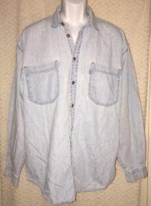 90-039-s-Vintage-Levi-039-s-Red-Tab-Denim-longsleeve-Shirt-size-adult-Large