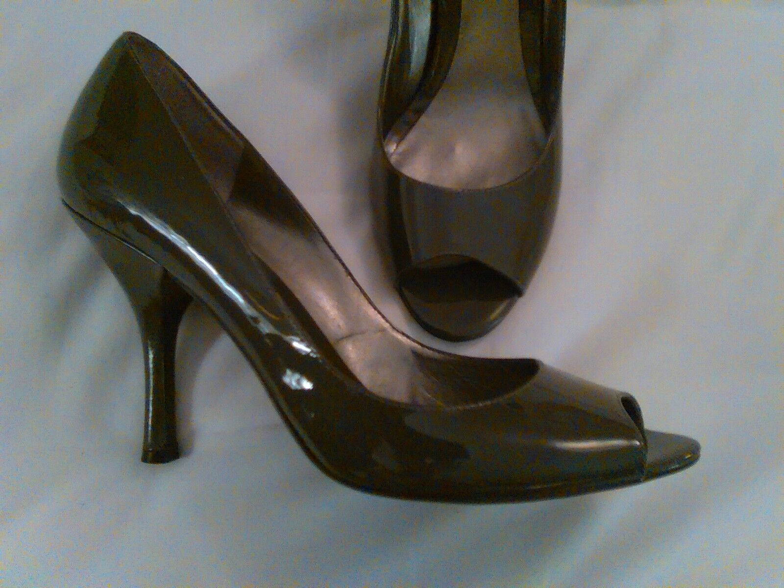 NINE LEATHER WEST GRAY PATENT LEATHER NINE SHOES 9 M BEAUTIFUL 4231ec