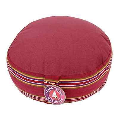 Meditationskissen / Yogakissen, Shyama rot, 33x17cm, Entspannung, Meditation