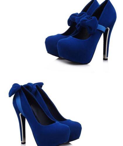 Schuhe Blau 13 9 Frau 8880 Cm Plateau Stift Absatz Pumps Oder Décollte 7wOxqd7