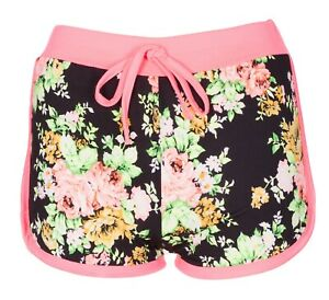New-Ladies-Womens-Girl-Floral-Flower-Print-Beach-Casual-Summer-Hot-Pants-Shorts