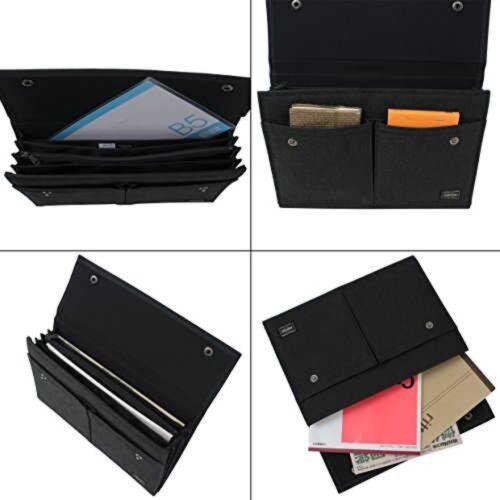 PORTER Yoshida Bag 592-06373 File Case SMOKY Cordura Duck Black Japan Tracking