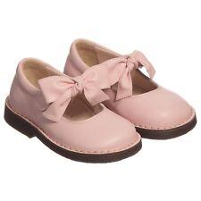 Il Gufo in pelle rosa per neonate fiocco scarpe EU 22 UK 5