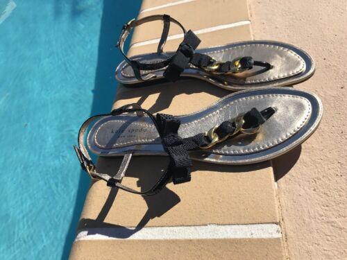 oro catena Spade perizoma nera in 9 5m Kate dettaglio pelle Sz appartamenti sandali 0XwxdInqZ