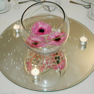 clear mirror base for centerpieces round square ebay rh ebay com round mirror centerpiece 8in round centerpiece mirrors wholesale