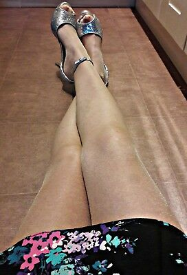■SALE■**Shiny**Glossy**NATURAL**Tan**Tights*Size XL*Luxury High Gloss*UK Stock**