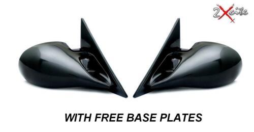 SEAT IBIZA /& CORDOBA 1994-2002 BLACK M3 MANUAL DOOR WING MIRRORS /& BASE PLATES