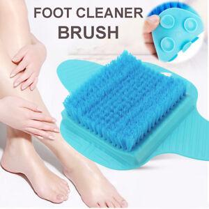 Details About Bath Blossom Foot Scrub Brush Exfoliating Feet Scrubber Washer Spa Shower Blue