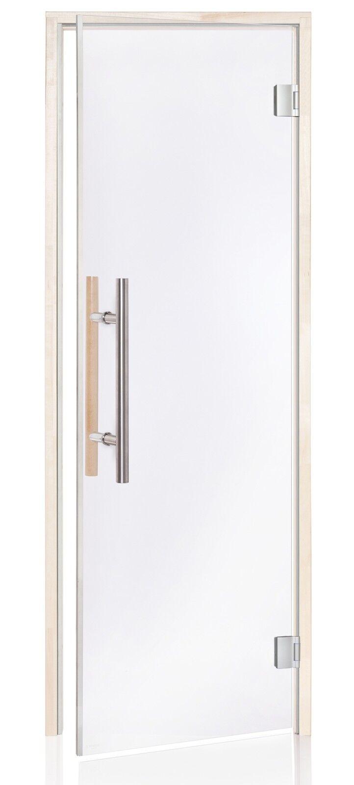 prezzi più convenienti Porta Sauna Vetro Trasparente Trasparente Trasparente Premium Lux 7 x 19 con Supporto Magnetico  le migliori marche vendono a buon mercato