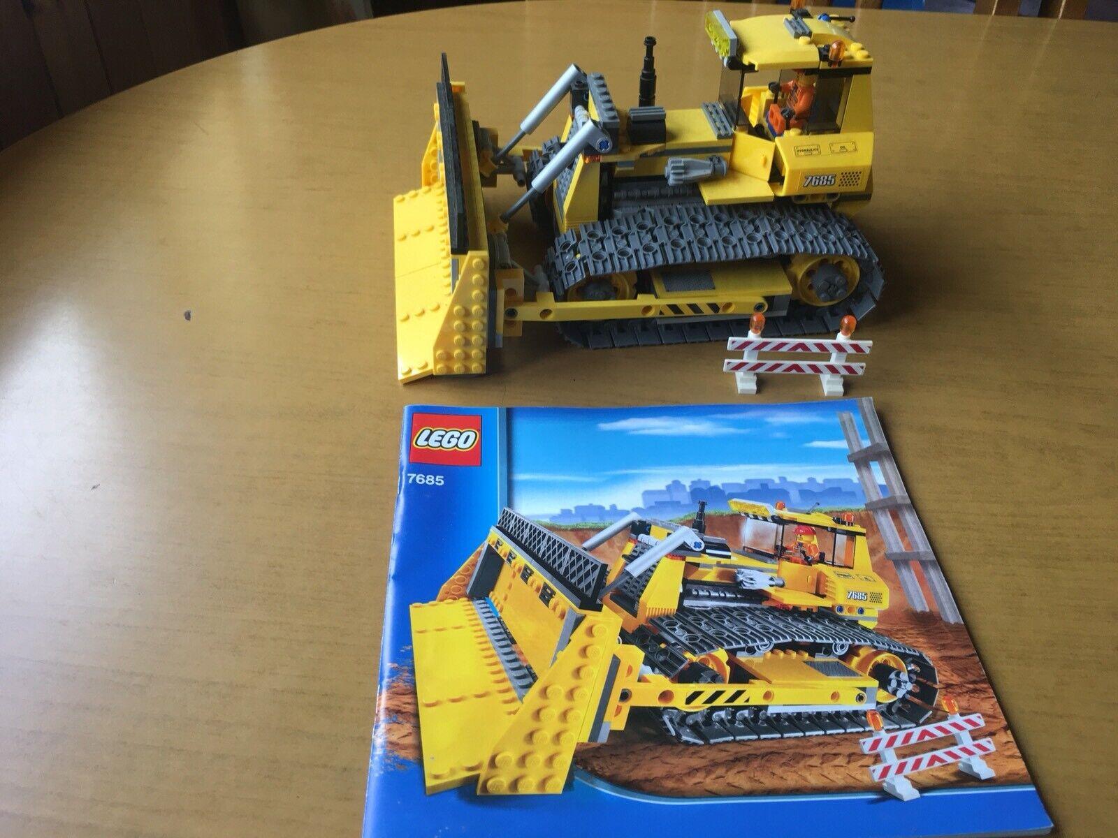 Lego City (7685) Bulldozer dozer Excellent Condition