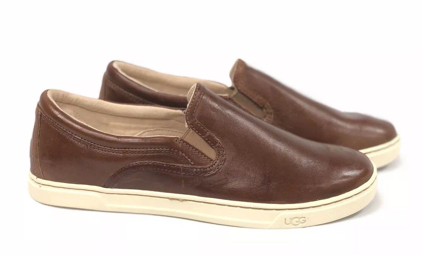 Ugg Australia - Wildes Leder mit Slip-On-Sneakers Chestnut Loafers Schuhe 1015460