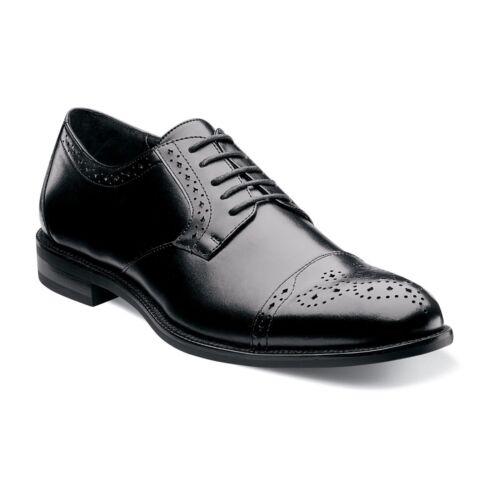 Stacy Adams Men's Granville Cap Toe Oxford 24988 11.5 M Black Leather/pu