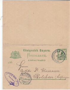germany 1903 used stamps letter card ref 20999