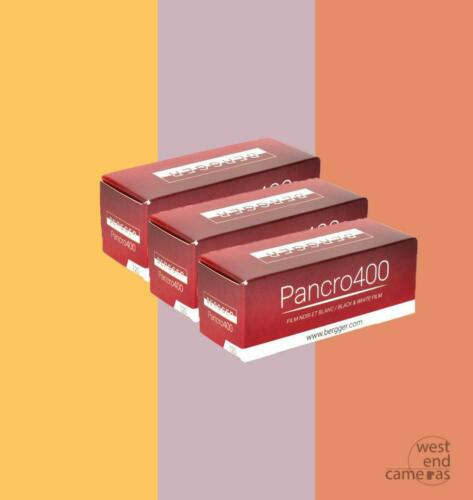 FREE POST Bergger Pancro 400 120-3 PACK