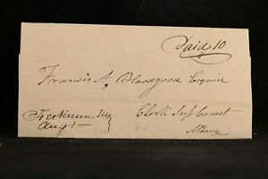 New York: Herkimer 1822 Stampless Cover, Ms & Paid 10 to Albany