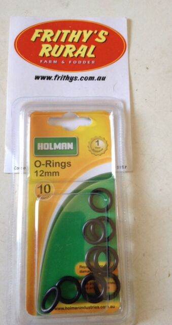"HOLMAN SNAP CLICK FITTING ""O"" RINGS 12mm PACK OF 10 STOP THAT LEAKY TAP  MPO12"