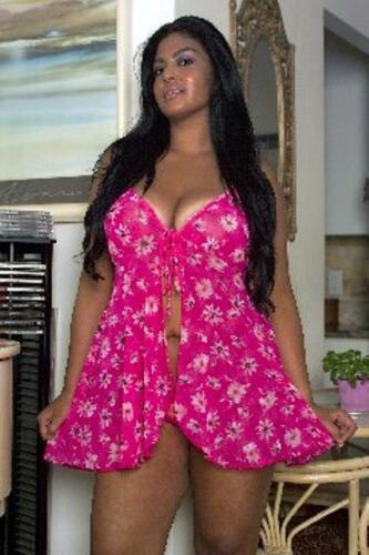 Plus Size Lingerie 1x 2x 3x Pink Chemise Polyeser Babydoll  MADE IN USA