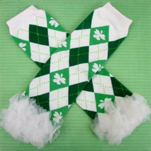 NEW Baby Leg Warmers St Patrick/'s Day Shamrock Irish girl Infant Toddler