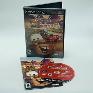 Cars-Mater-National-Championship-PlayStation-2-PS2-Complete-Disney-Pixar-Tested