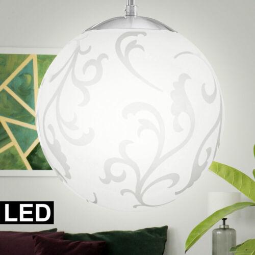 RGB LED Pendel Hänge Leuchte Wohnraum Glas Kugel Decken Lampe FERNBEDIENUNG