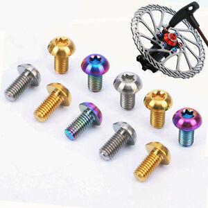 6pcs-M5x10mm-Titane-Ti-Montagne-Cyclisme-Velo-Disque-De-Rotor-Bolts-Torx-T25
