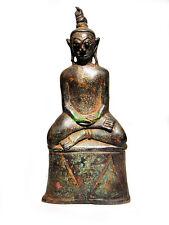 6517-OLD ANCIENT BONZE STATUE NGUNG KHMER MAGIC NGAN DECOR AMULET GANGLING RICH