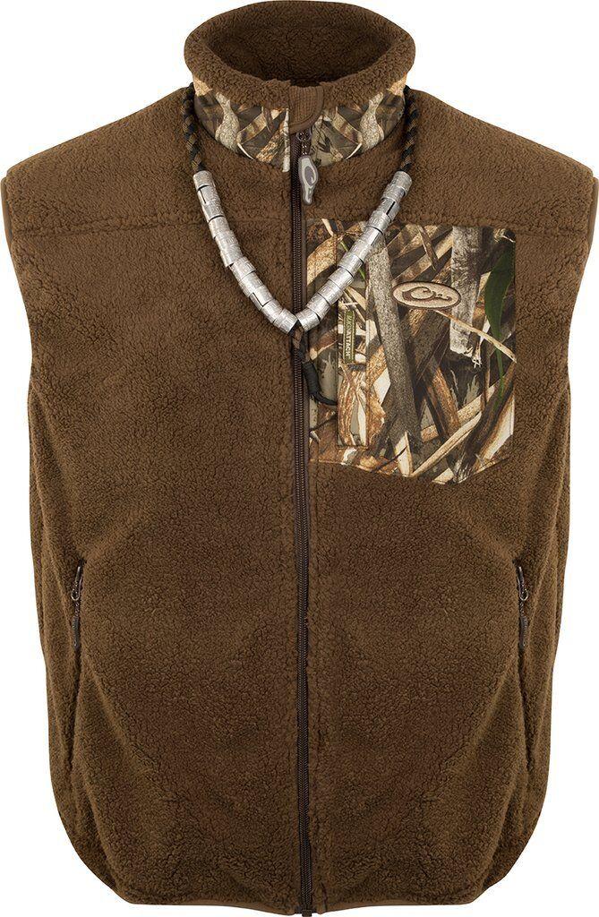DRAKE MST Sherpa Fleece Hybrid Liner Vest DW8620-015-2 Realtree Max 5 Medium