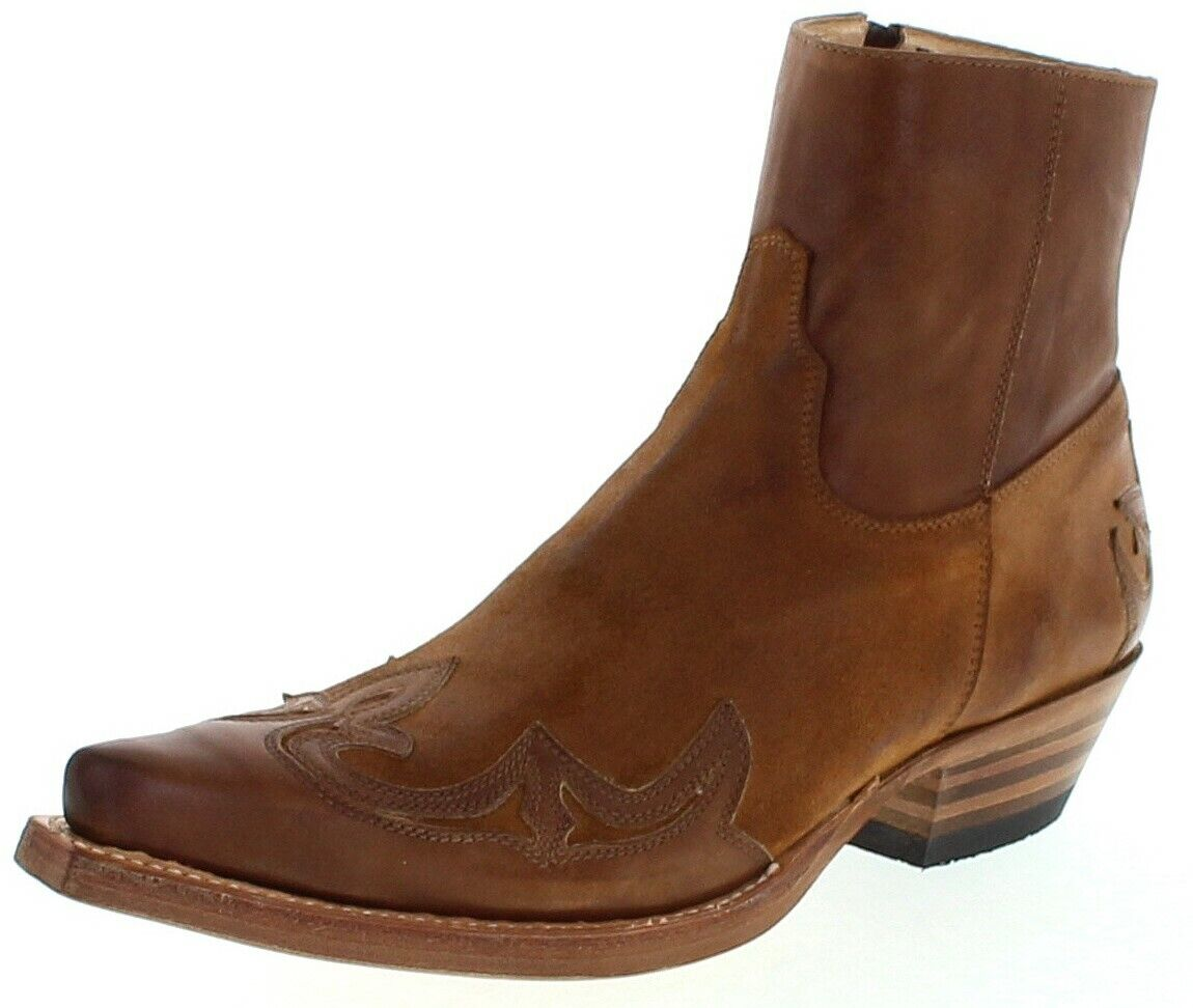 Sendra Stiefel 14379 SAMUEL Herren Lederstiefelette Braun Westernstiefelette  | Sehr gute Farbe