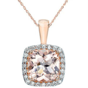 1-1-10ct-Morganite-Cushion-Halo-Diamond-Pendant-14K-Rose-Gold