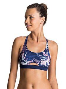 733f3703e54c1 Roxy Keep It ROXY Sporty Bra Fitness Bikini Top Small ERJX303399