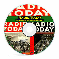 Radio Today, 72 Classic Old Time Radio OTR Magazine Collection in PDF on CD B84