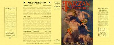 Hingebungsvoll Edgar Rice Burroughs Tarzan The Terrible Faksimile Bücherzubehör Buchhülle umschlag Für Mcclurg Edition