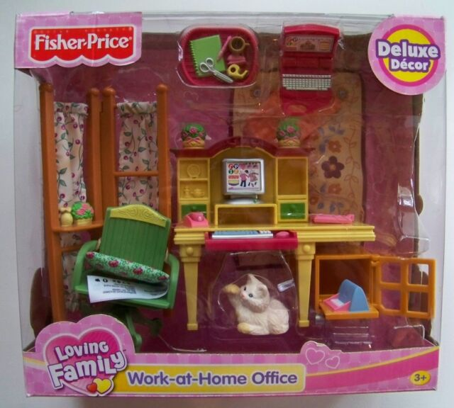Fisher Loving Family Dollhouse Furniture Work At Home Office For
