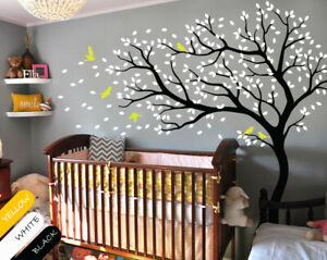 Wall Tree Decals With Birds Stickers
