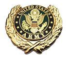 US Army Logo Wreath Military Veteran Lapel Metal Hat Pin Emblem 1-1/8
