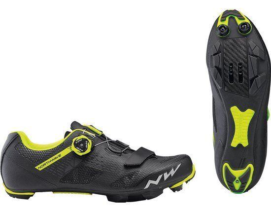 MTB zapatos Northwave Mod. 'Razer , Col. Negro Amarillo Fluo; a estrenar