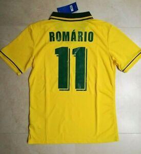 MAGLIA-BRASILE-ROMARIO-11-MONDIALE-USA-1994-RETRO-VINTAGE-JERSEY-PATCH-MONDO