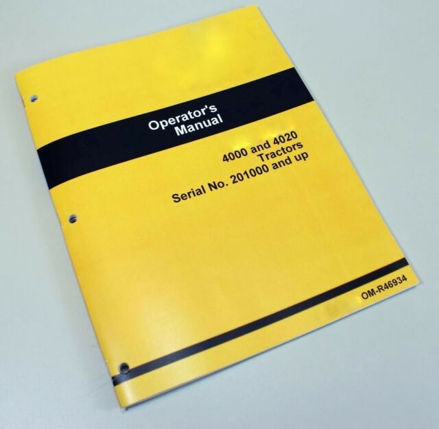 John Deere 4020 Tractor Owners Operators Manual Gas Diesel LP 201 000 And Up