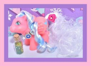 My-Little-Pony-MLP-G1-Vtg-Rainbow-BABY-Brightbow-Bright-Bow-Reroot-OOAK