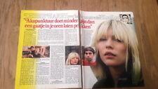 BLONDIE 'Koo Koo' 2 page ARTICLE / clipping from Joepie Belgian magazine