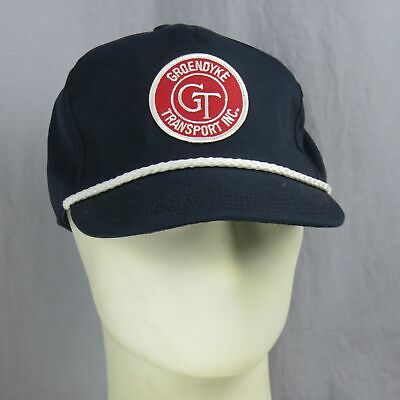 Vintage Groendyke Trasporto Inc. Patch Ricamato Snapback Cappello Made In Usa Caldo E Antivento