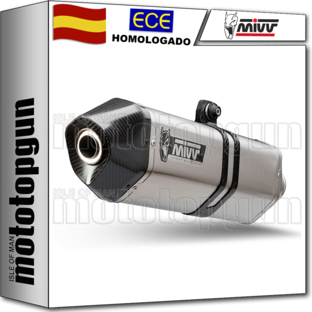 MIVV TUBO DE ESCAPE HOM SPEED EDGE COPA CARBONO HONDA VFR 800 F 2016 16 2017 17
