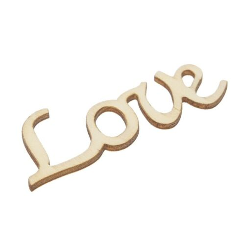 Love Letter Word Wooden Hanging Sign Wall Decal Wedding Home Decoration Ornament