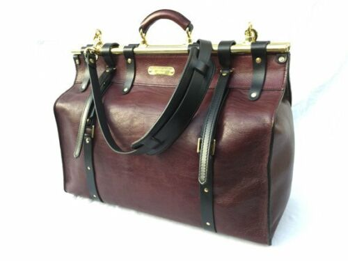 Distressed Leather Men/'s Briefcase Laptop travel doctor bag Shoulder Bag Satchel