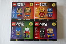 SDCC 2016 Lego Brick Headz 41490 41491 41492 41493 4 sets, new, limited, sealed