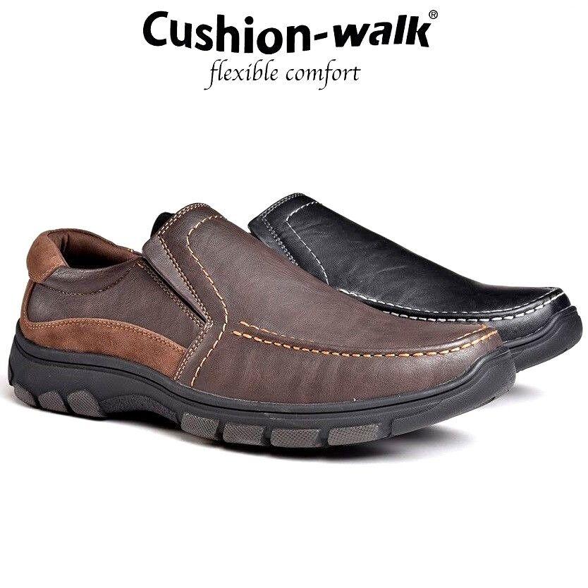 MENS Cushion Walk SLIP ON WIDE COMFORT