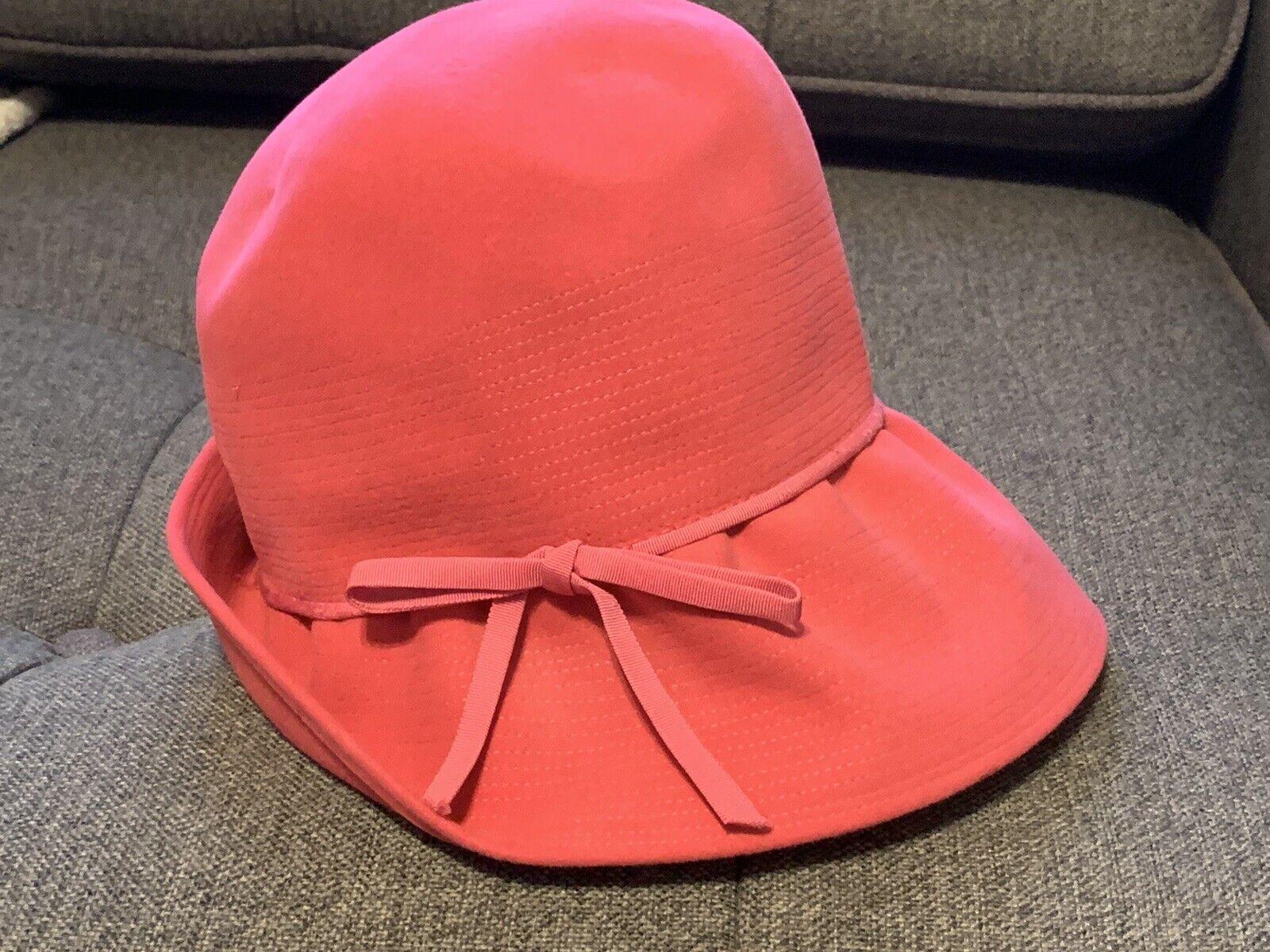 CHRISTIAN DIOR VINTAGE PINK BUCKET STYLE HAT - image 1