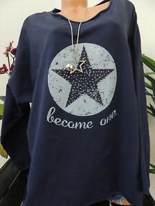 new arrival bb327 63009 Details zu Damen Sweatshirt Größe 44 46 48 50 Übergröße Pullover Langarm  Stern Sterne 1